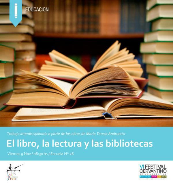 de lectura el libro y las bibliotecas: